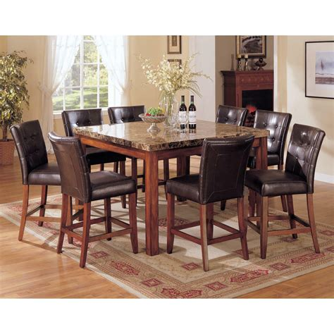 brand  pc dark brown counter height dining room