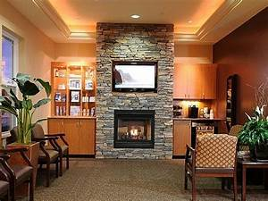 Tv, Above, Stacked, Brick, Fireplace