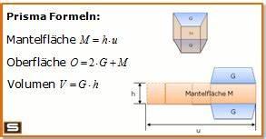 Volumen Quader Berechnen : prisma formeln berechnen volumen oberfl che mantelfl che ~ Themetempest.com Abrechnung