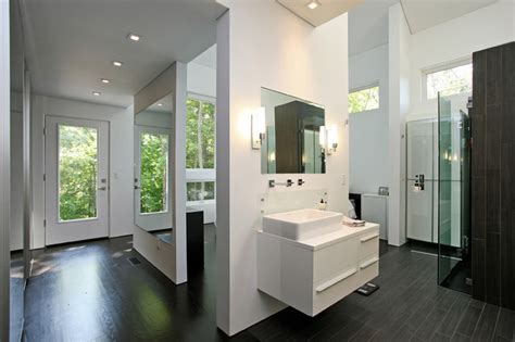 master dressing room contemporary bathroom  york