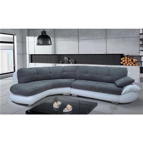 canapé d angle gris et blanc canapé d 39 angle regal gris et blanc angle gauche achat