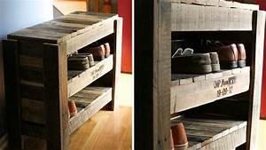 30 meubles a faire avec des palettes loisirs creatifs With meuble a chaussure en bois de palette