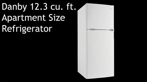 Roper Apartment Size Refrigerator by Danby 12 3 Cu Ft Apartment Size Refrigerator Dff123c1wdb