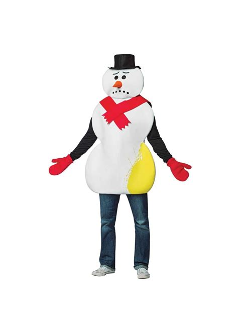 yellow snowman men costume christmas costumes