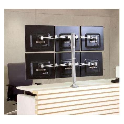 6 monitor desk mount hexa monitor desk mount full swing monitor arm cotytech