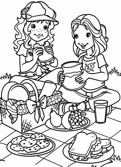 Coloring Picnic Pages March Para Children Hobbie