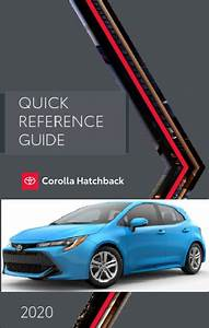 2020 Toyota Corolla Hatchback Quick Reference Guide Free