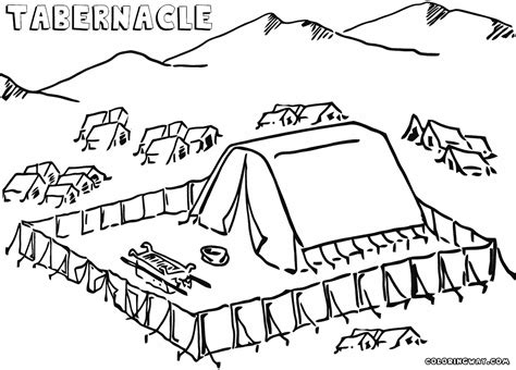 Building The Temple Coloring Pages Tabernacle Coloring Pages Coloring Pages To And
