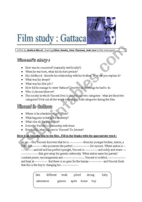 Gattaca  Esl Worksheet By Sophie85