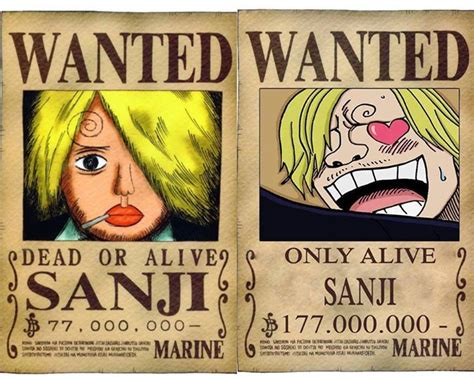 Sanji's Bounty Then And Now