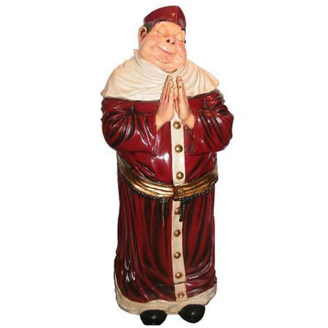 Monk Cabinet Statue