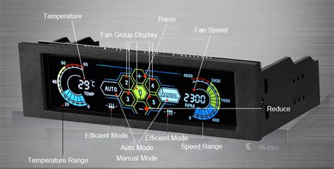 Stw Inch Lcd Front Panel Cpu Cooling Fan Speed