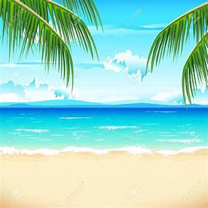 The Sea clipart beach background - Pencil and in color the ...