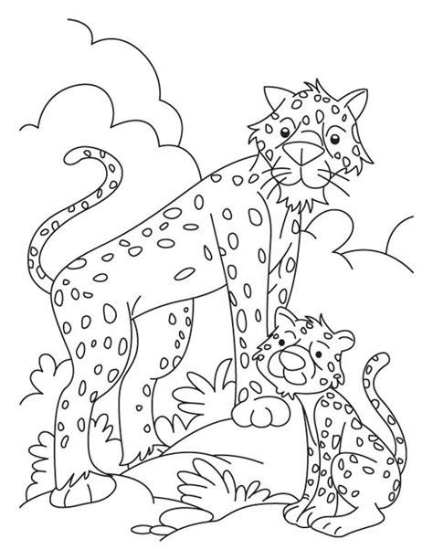 funny cheetah   baby drawing coloring page netart