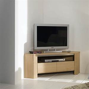 Meuble En Angle : meuble tv d 39 angle en ch ne massif ~ Edinachiropracticcenter.com Idées de Décoration