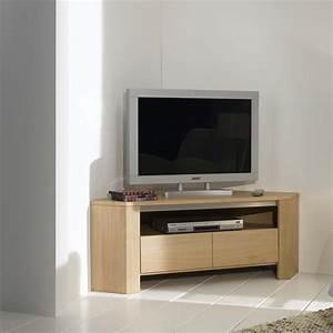 meuble tv d39angle en chene massif With meuble tv angle