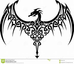 Celtic Dragon Tattoo Stock Illustration Image 46947764
