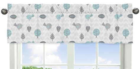 Blue Gray Valance by Sweet Jojo Designs Gray And Blue Earth Sky Collection