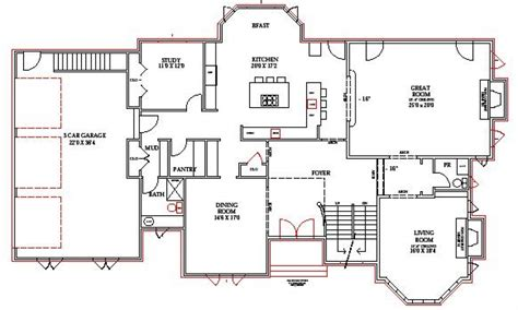 open floor house plans  walkout basement alfa img