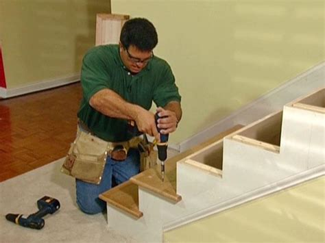 installing a l post photos how to install new stair treads and railings how tos diy