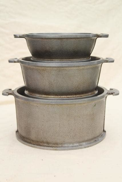 aluminum pots pans cookware ware 1940s dutch guardian service oven stack laurelleaffarm laurel farm lid bakeware dishes