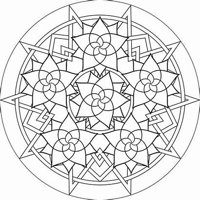 Coloring Pages Pattern Geometric Complex
