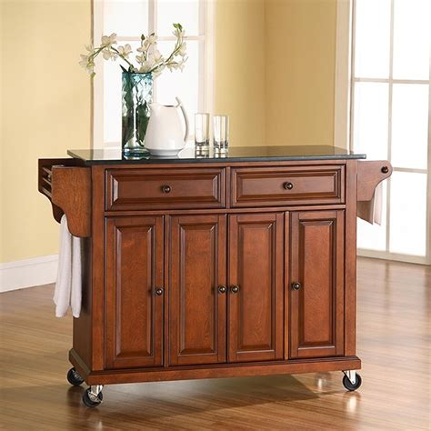 kitchen island cart marble top cherry crosley granite top kitchen cart 8154