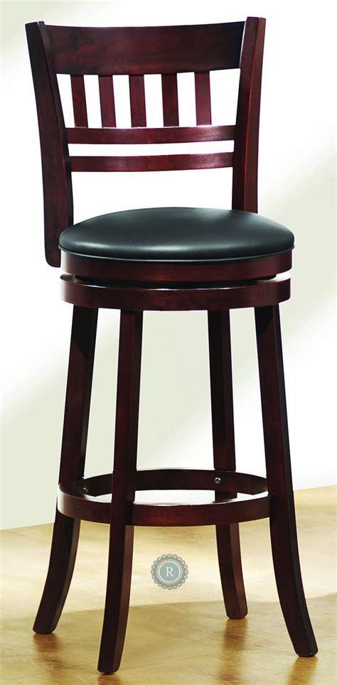 Edmond Swivel Cherry Counter Height Chair From Homelegance