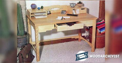 santa fe secretary desk santa fe style desk plans woodarchivist