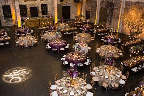 purple  gold reception decor