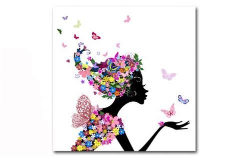 pouf pour chambre d ado tableau enfant fée des fleurs 50x50 cm tableaux enfants
