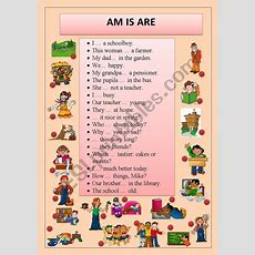 Use Am Is Are  Esl Worksheet By Derblume
