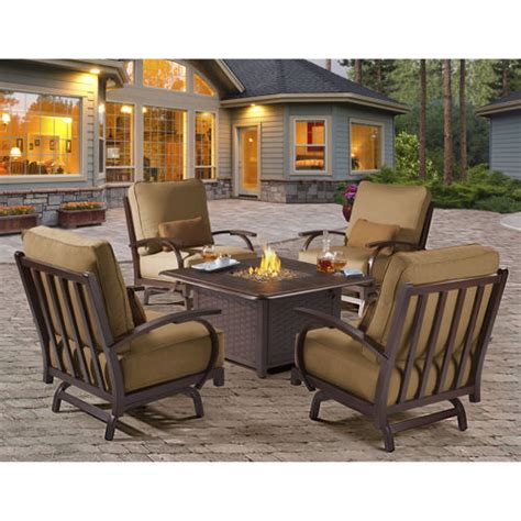 patio furniture fire pit table set office chairs costco costco patio furniture with fire pit