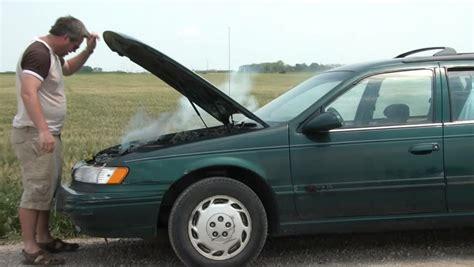 Broken Down Car Stock Video Footage