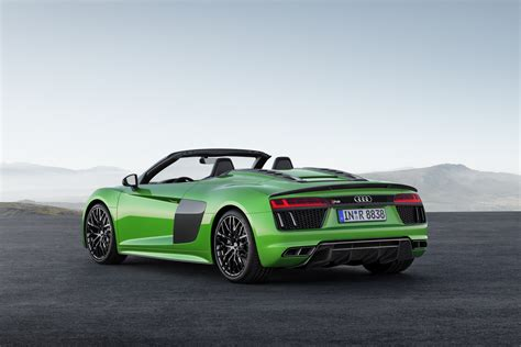 audi r8 new audi r8 v10 spyder debuts in plus guise with 601hp