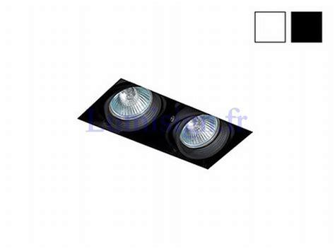 luminaire plafond chambre spot encastrable sans cadre falcon 2 gu10 blanc ou noir