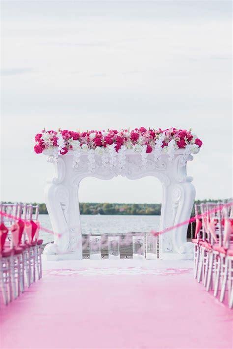Pink And White Wedding Ceremony Inspiration Wedding