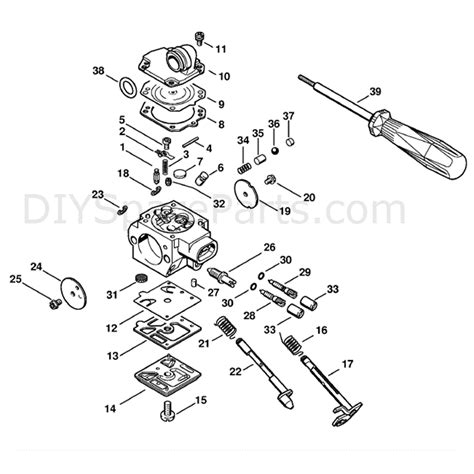 Stihl Ms 341 Chainsaw Ms341 Z Parts Diagram Carburetor