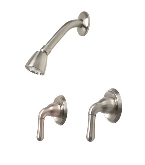 Shower Faucet Sets by Premier Sanibel Brushed Nickel Two Lever Handles Shower