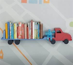 Rangement Livre Enfant : etag re camion pour chambre de gar on ~ Farleysfitness.com Idées de Décoration