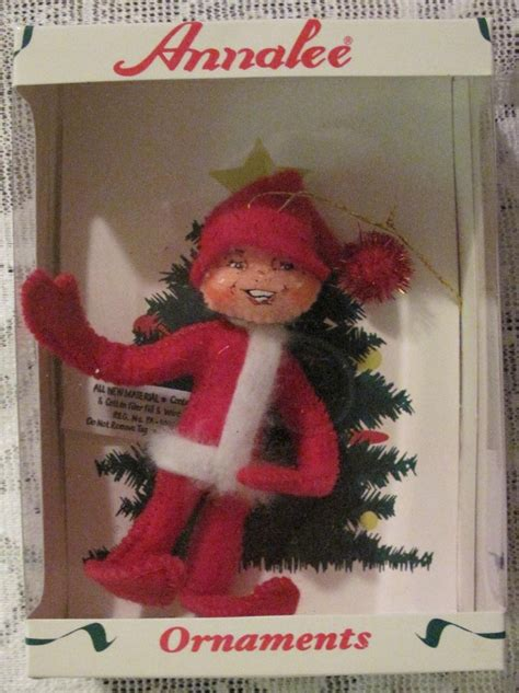 annalee red elf doll felt christmas ornament ornaments