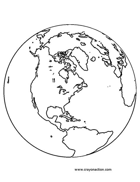 earth globe coloring page crayon action coloring pages