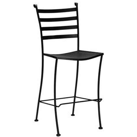 waymar wrought iron outdoor patio bar stool without arms b