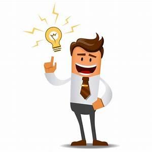 Hombre de negocios con una gran idea   Descargar Vectores ...
