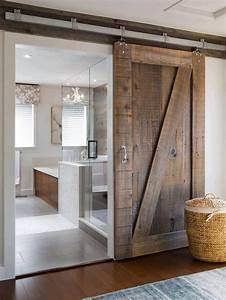 les 25 meilleures idees de la categorie salle de bains sur With porte de douche coulissante avec meuble salle de bain rustique