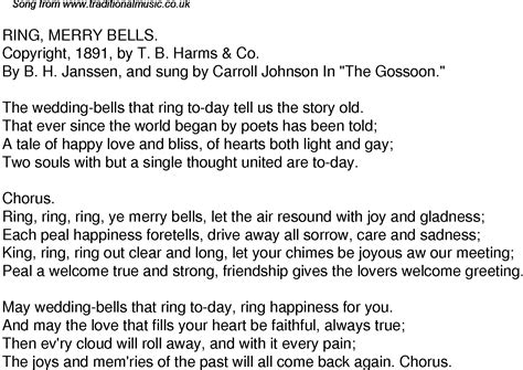 time song lyrics   ring merry bells