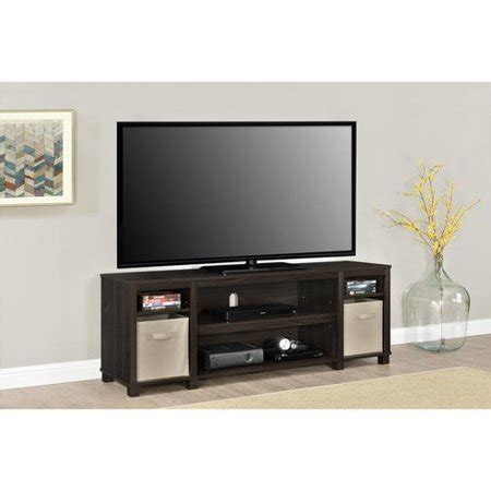 tv cabinets walmart mainstays tv stand with bins for tvs up to 65 quot