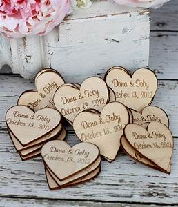 Custom rustic wedding favors wood heart magnets to do for Rustic wedding party favors