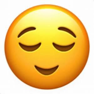 Relieved Face Emoji (U+1F60C)