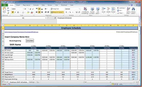 schedules template in excel 7 employee scheduling spreadsheet excel excel